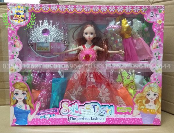 Hộp búp bê công chúa 12 áo-vương miện