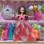 Đồ chơi búp bê công chúa 12 áo-vương miện