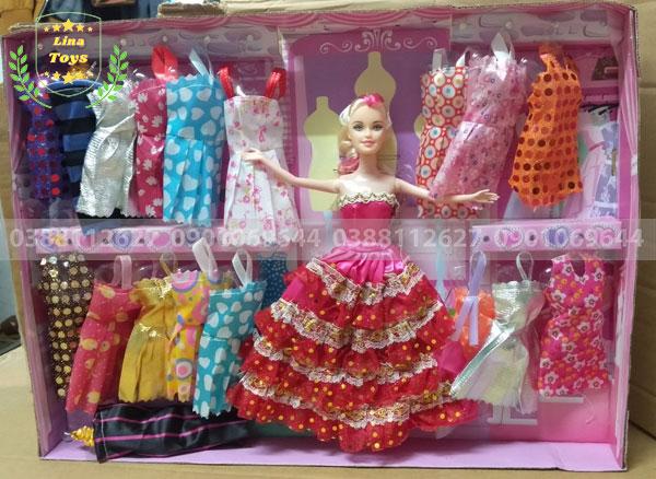 Hộp đồ chơi búp bê công chúa 18 áo