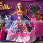 Đồ chơi búp bê barbie 3 áo tủ trang điểm