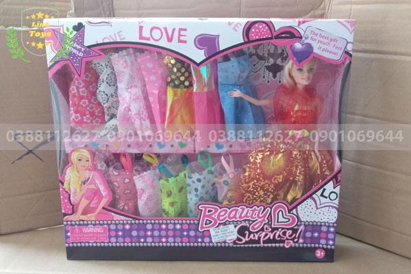 Hộp búp bê barbie beauty 14 áo