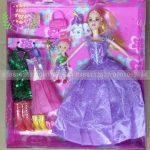 Đồ chơi búp bê barbie mẹ và bé 02 áo
