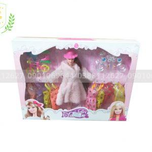 Búp bê barbie 10 áo-vương miện