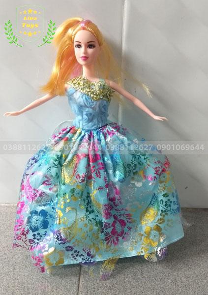 Búp bê công chúa 3 áo mắt kiếng-vương miện-chuỗi tim