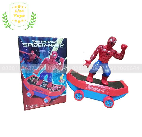 Đồ chơi người nhện trượt ván thăng bằng