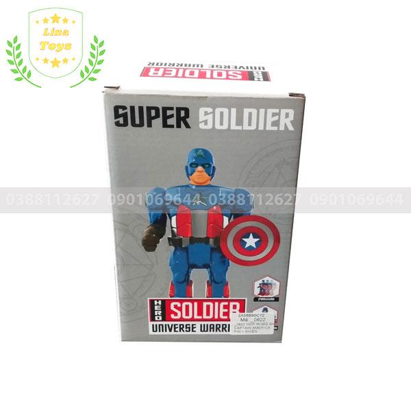 Robot siêu anh hùng cầm khiên