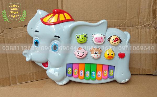 Đàn Organ đồ chơi cho bé hình Con Voi