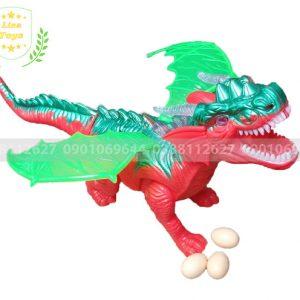 Đồ chơi khủng long nhựa đẻ trứng