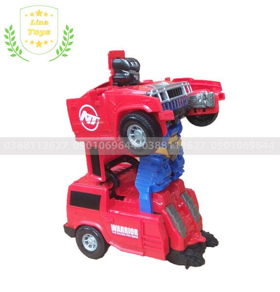 Xe ô tô cảnh sát biến hình robot