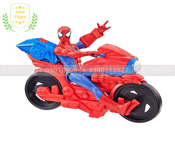 Đồ chơi siêu nhân nhện chạy xe
