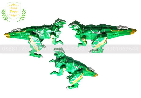 Đồ chơi robot khủng long xanh