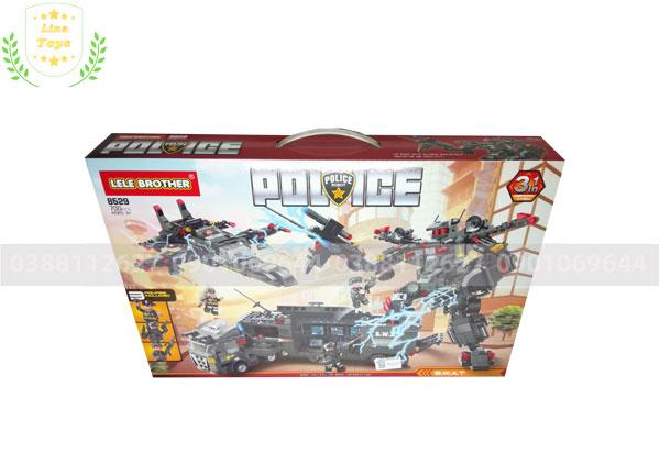 Bộ Lego Cảnh sát-Xe-Máy bay-Robot