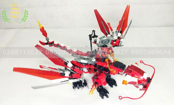 Đồ chơi Lego rồng đỏ