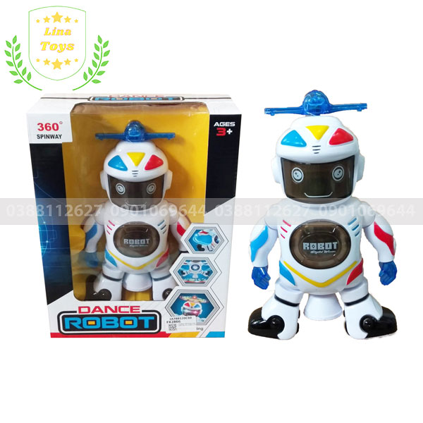 Đồ chơi robot xoay 360 độ