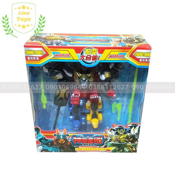 Bộ đồ chơi siêu nhân mãnh thú