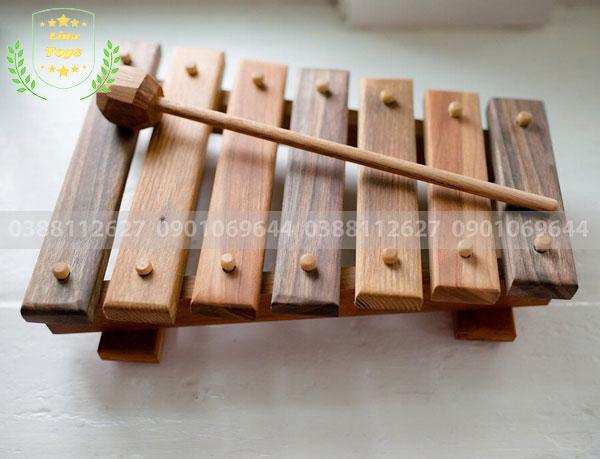 Đàn gỗ đồ chơi tự làm cho bé
