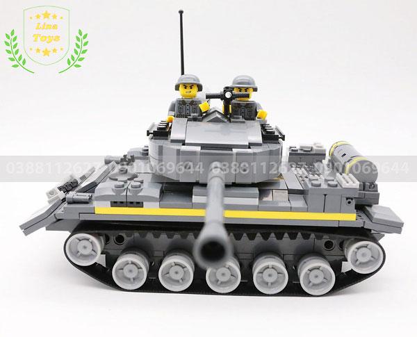 Lắp ráp lego xe tăng