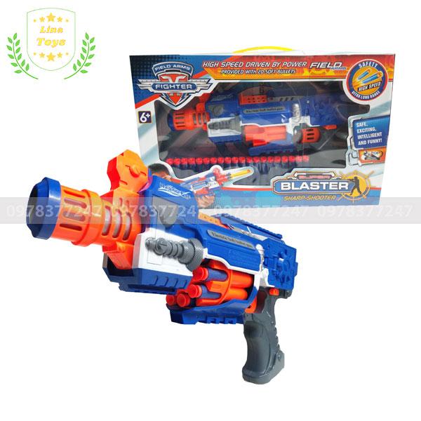 Súng đồ chơi bắn đạn mút xốp Raging Fire