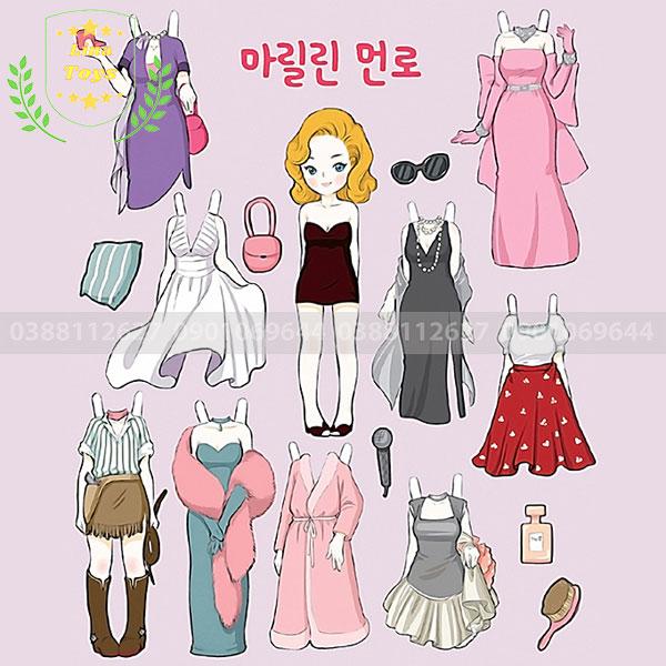 Hình búp bê giấy Hàn Quốc ( Hình 1 )
