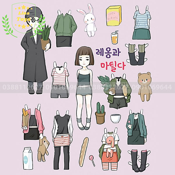Hình búp bê giấy Hàn Quốc ( Hình 2 )