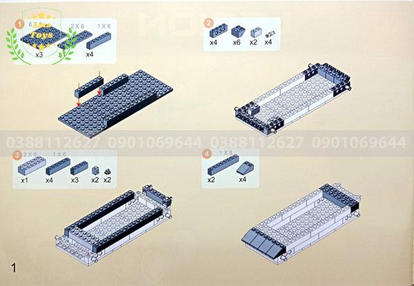 Hướng dẫn lắp ráp lego xe tăng 3660 ( Trang 1 )