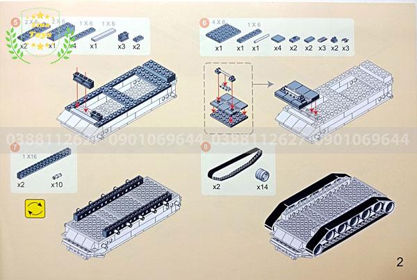 Hướng dẫn lắp ráp lego xe tăng 3660 ( Trang 2 )