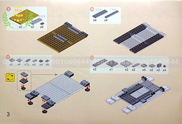 Hướng dẫn lắp ráp lego xe tăng 3660 ( Trang 3 )