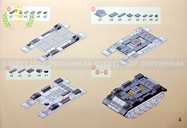 Hướng dẫn lắp ráp lego xe tăng 3660 ( Trang 4 )