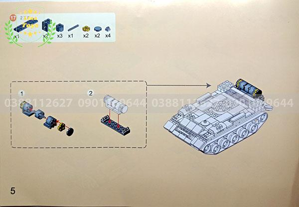 Hướng dẫn lắp ráp lego xe tăng 3660 ( Trang 5 )