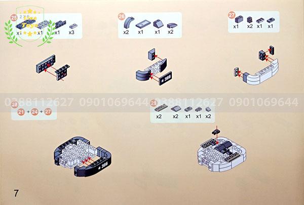 Hướng dẫn lắp ráp lego xe tăng 3660 ( Trang 7 )