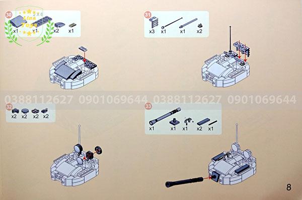 Hướng dẫn lắp ráp lego xe tăng 3660 ( Trang 8 )