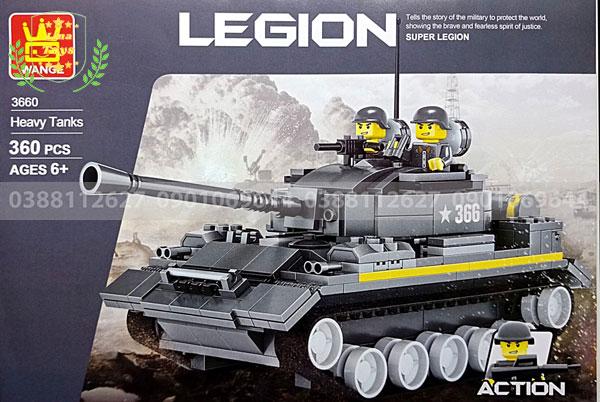 Hướng dẫn lắp ráp lego xe tăng 3660