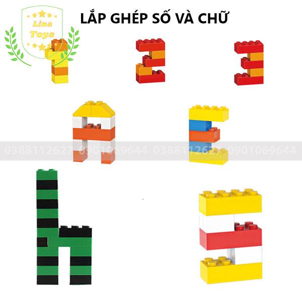 Lắp ghép lego 1000 chi tiết ( Chủ đề số và chữ )