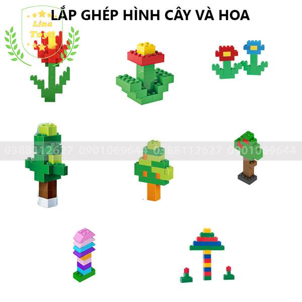 Lắp ghép lego 1000 chi tiết ( Chủ đề cây và hoa )