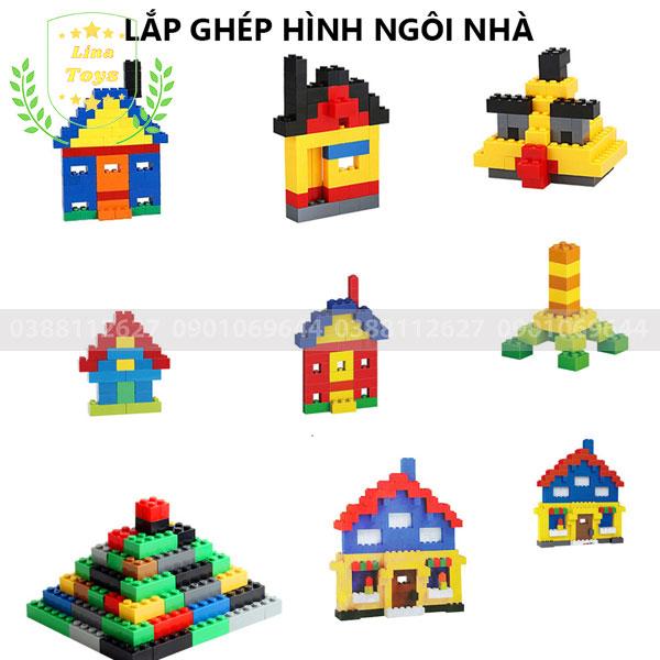Lắp ghép lego 1000 chi tiết ( Chủ đề ngôi nhà )