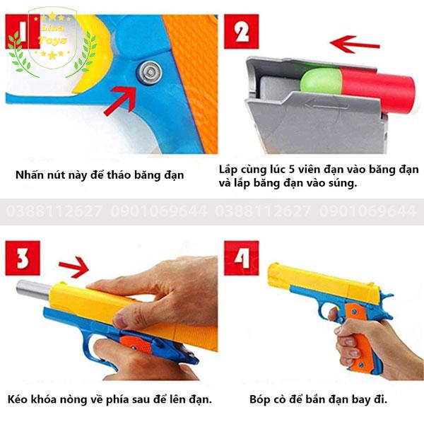 Cách sử dụng súng đồ chơi bắn đạn nhựa