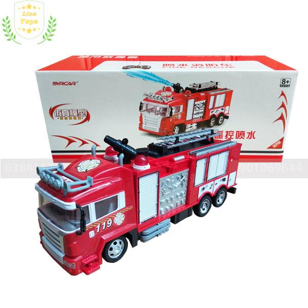 Xe cứu hỏa điều khiển từ xa phun nước