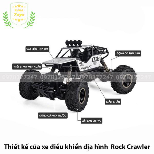 Thiết kế của xe địa hình điều khiển Rock Crawler
